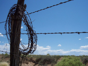 What is barbed wire fencing India